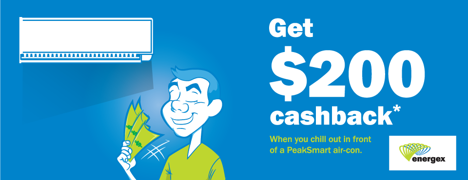 sunshine coast energex cashback peak smart air conditioning promo